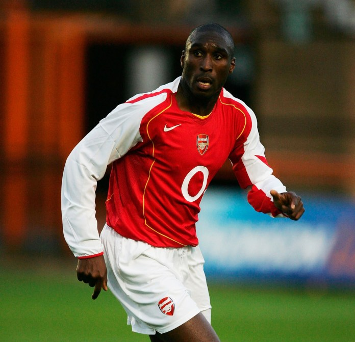 Campbell became a Double winner in his first season with the Gunners