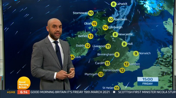 He is most often seen presenting the weather forecast on the ITV morning show