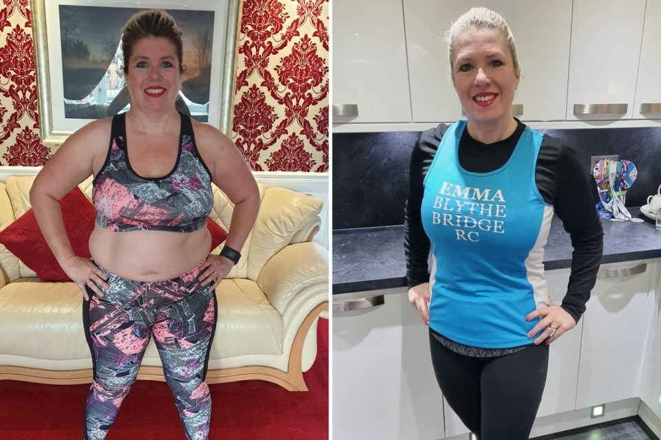 Emma's dramatic weight loss means her running has massively improved