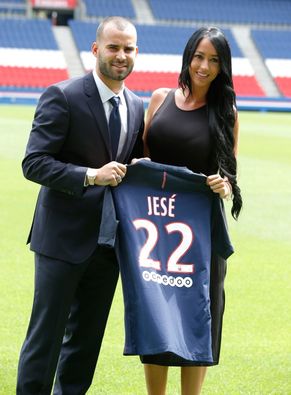 Jese Rodriguez was ditched by PSG after he was accused of cheating on Aurah Ruiz