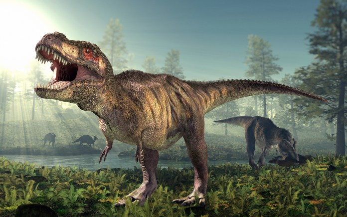 A terrifying cousin of Tyrannosaurus Rex (pictured) has been discovered in Argentina