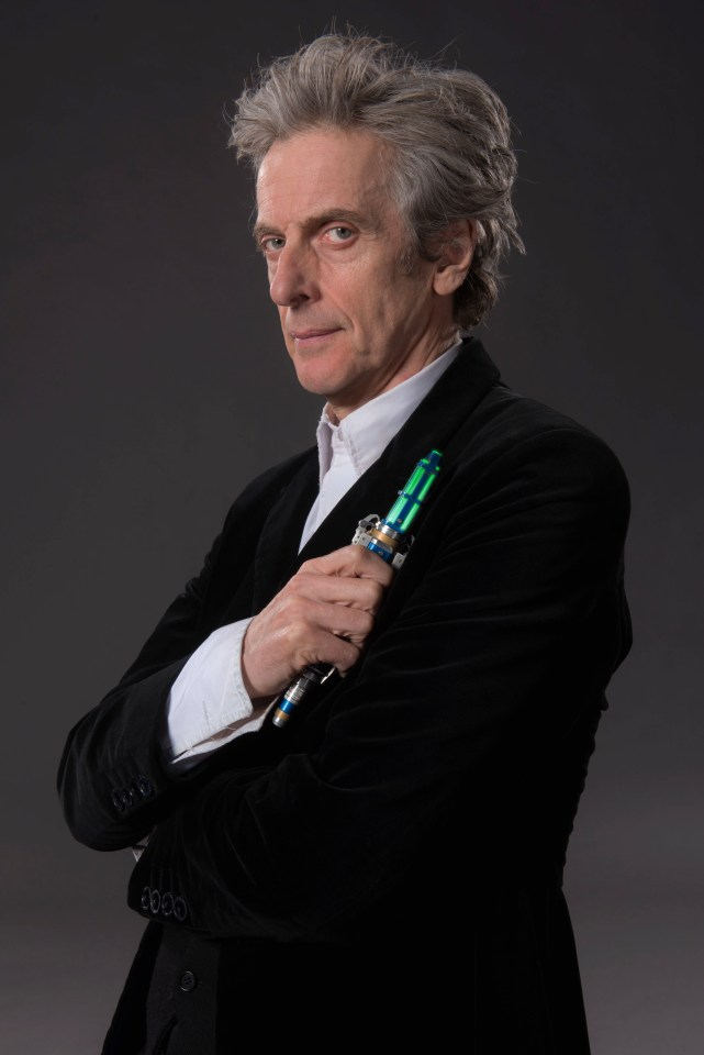 The Scot, 62, holding a sonic screwdriver in Doctor Who