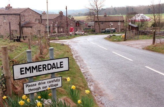 The high-tech Emmerdale set, on a spawling site near Leeds, went quiet today