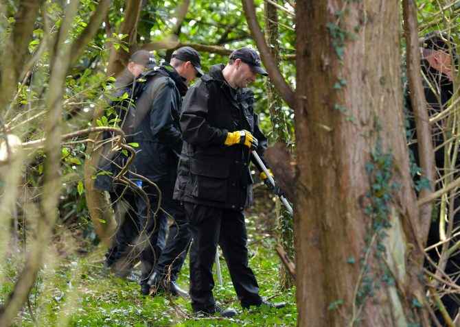 The baby was found by a dog walker in Hythe, Hants