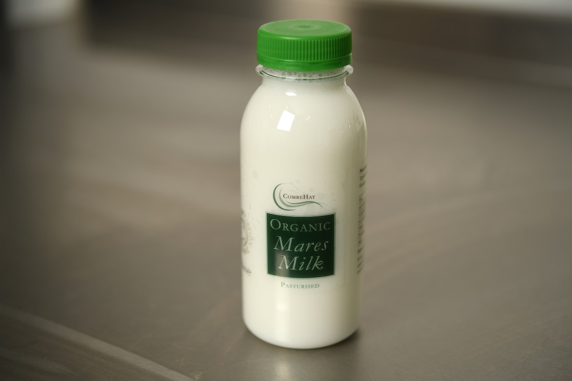 The milk sells for £6.50 for a 250ml bottle to customers in mainland Britain