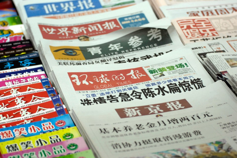 China is one of worst countries in the world for the freedom of the press
