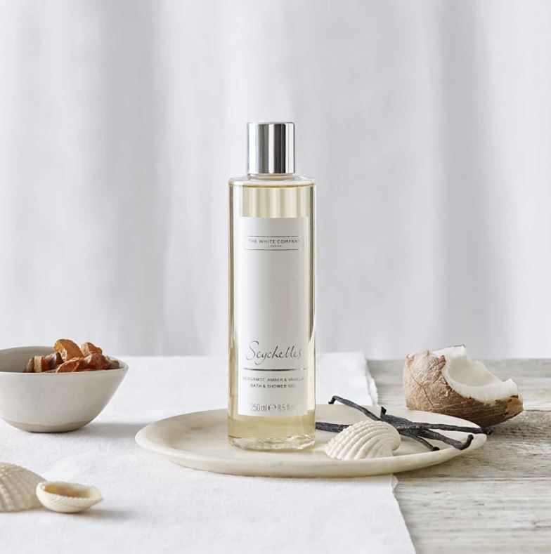 The Seychelles bath and shower gel from The White Company is a whopping £13