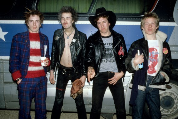 A Sex Pistols group shot taken by the tour bus on their final tour