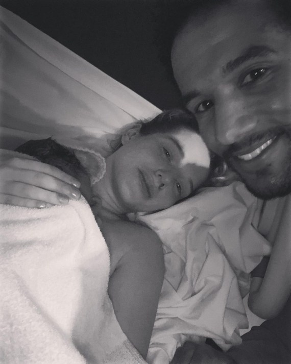 Scott announced his and Helen's first son's arrival on Instagram this evening