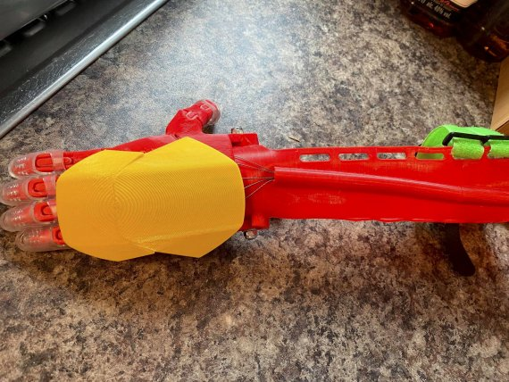 Mr Grant made Lewis a 'bionic' arm using a 3D printer in the school's DT department