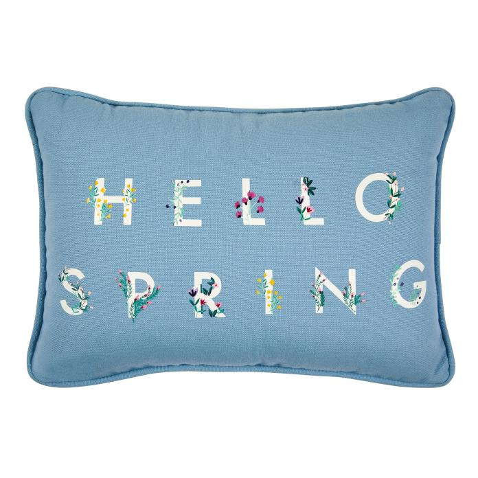 This pretty Hello Spring cushion is £8 at Next