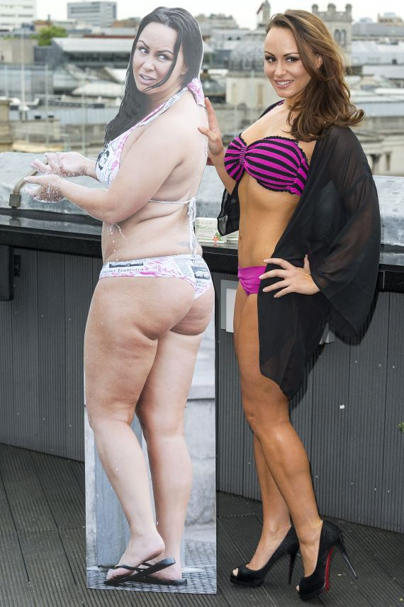 Chanelle shrunk down to seven stone before going back up to a size 16 in the space of two years
