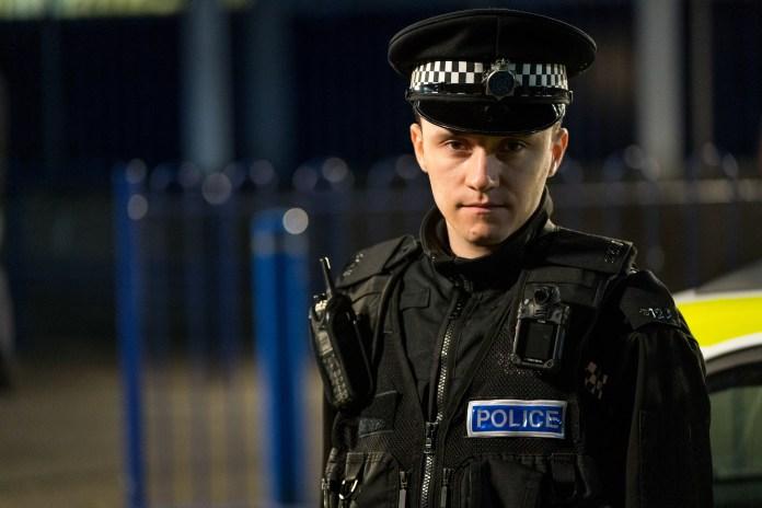 Gregory as Line Of Duty cop Ryan Pilkington
