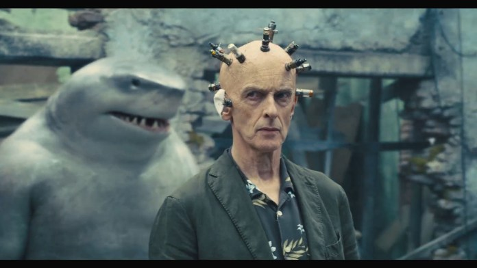 Peter Capaldi's head bolts in Suicide Squad look like The Doctor's tools