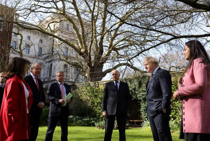 Boris Johnson met with the sanctioned politicians last weekend