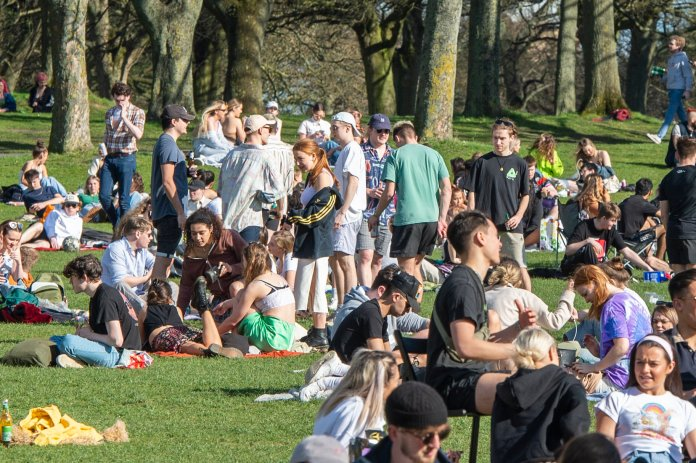 As lockdown eased, revellers took to Hyde Park, Leeds to socialise again