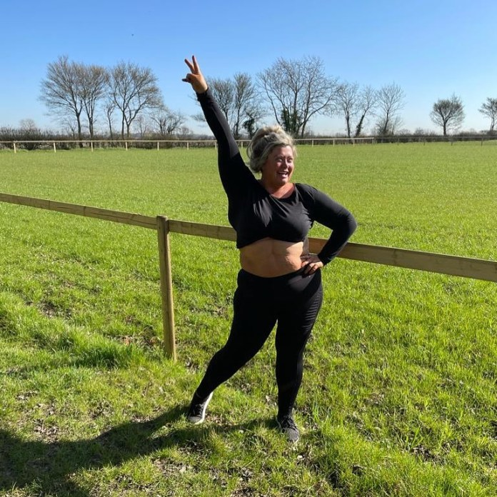 Gemma Collins showed off her new trim waist