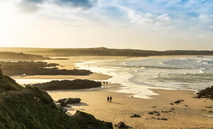 Gwithian Beach is a much quieter option if in Cornwall