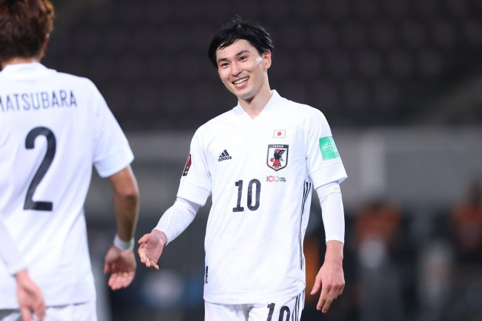 Minamino, 26, helped his country to a 14-0 victory on Monday