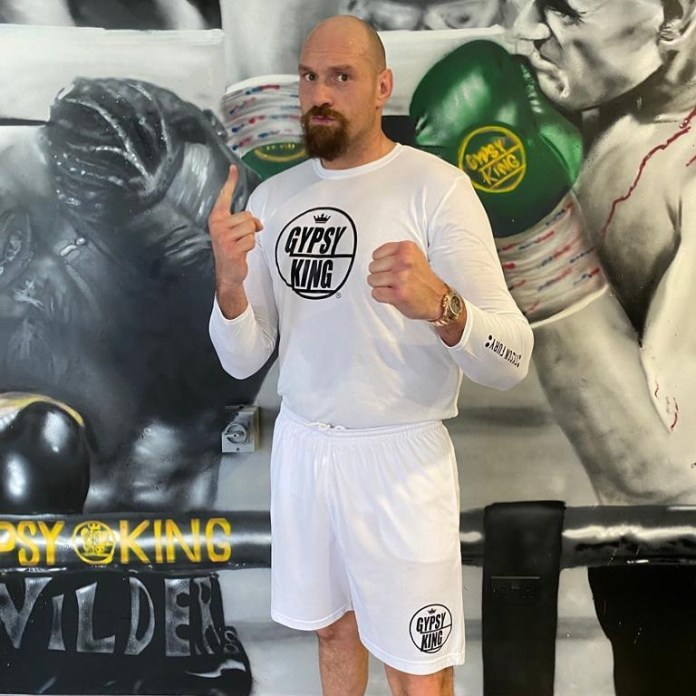 Tyson Fury looks to be in tremendous shape ahead of his clash with Anthony Joshua