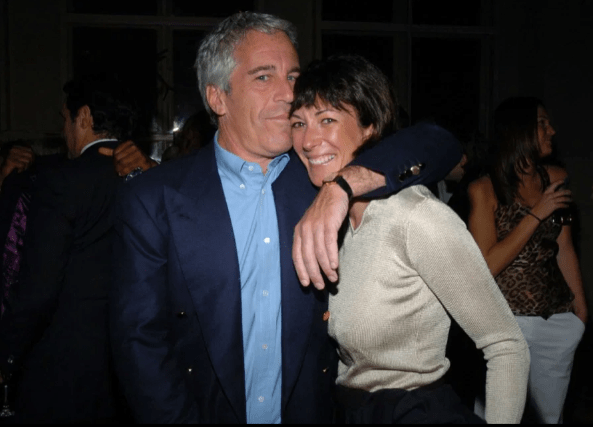 Ghislaine with disgraced financier Jeffrey Epstein in 2005
