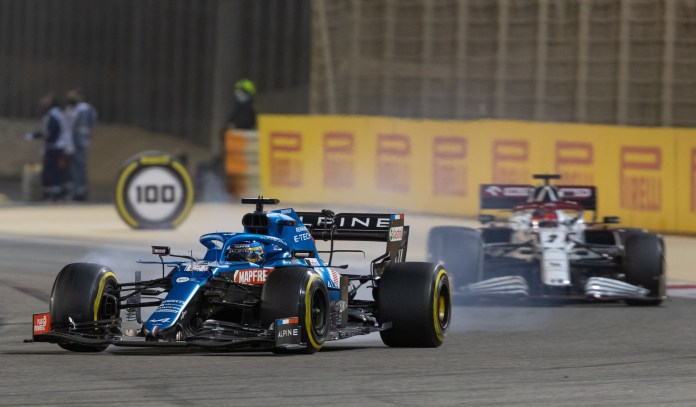 The Spaniard's Alpine car's brakes overheated during the second half of the race