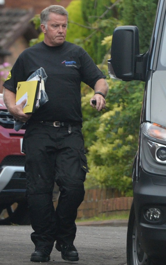 John Doherty pictured heading off to work in the wake of his mind-blowing £14m jackpot