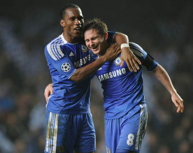 Drogba and Lampard currently hold the record with 36 goal combinations across all seasons