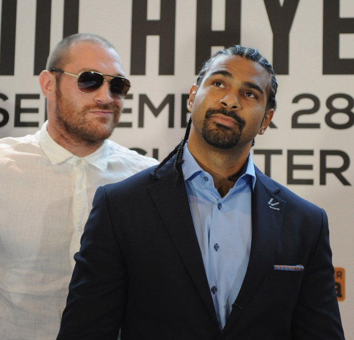 Tyson Fury attempts to get under David Haye's skin ahead of their cancelled bout
