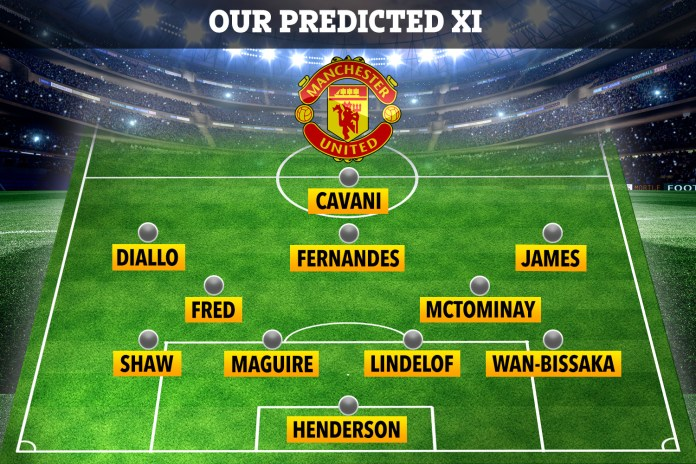 Here is how we expect Man Utd to line up on Sunday evening
