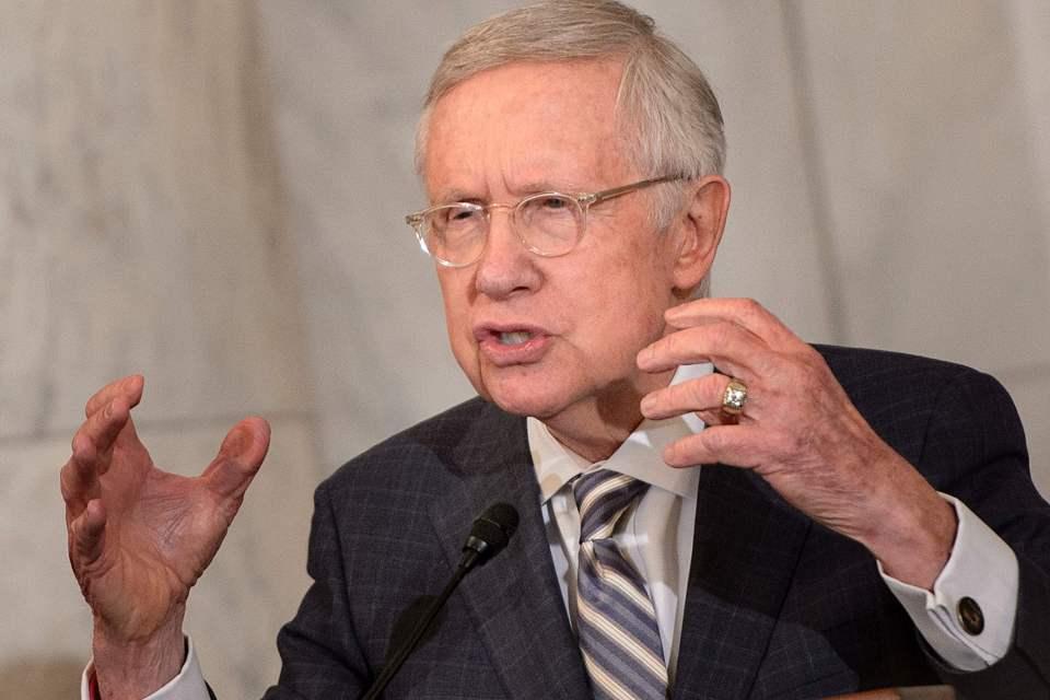 Former senator Harry Reid pointed the finger of blame at the Kremlin
