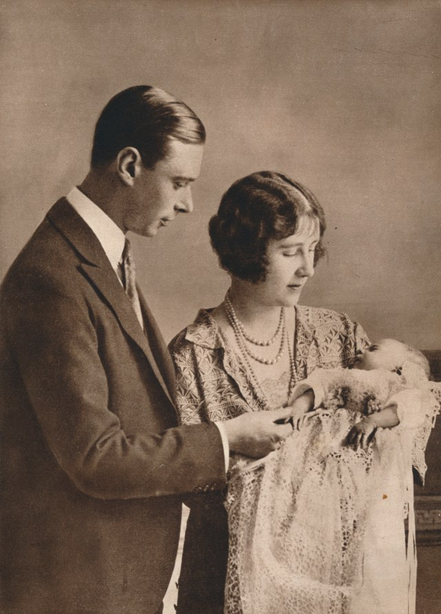 The Queen's christening at Buckingham Palace in 1926 included Prince Arthur, Queen Victoria's last surviving son