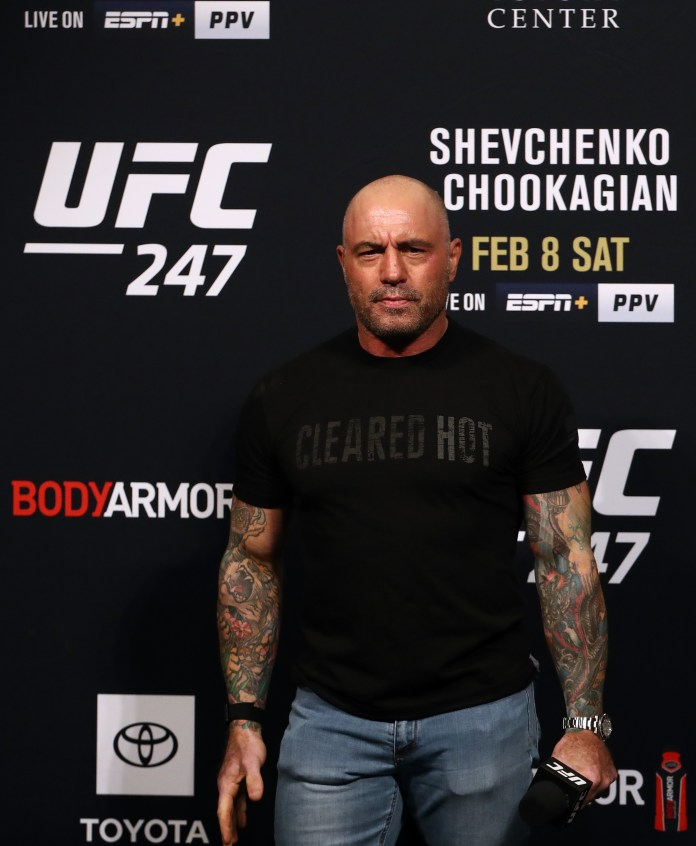 UFC commentator Joe Rogan has been accused of making 'transphobic' comments