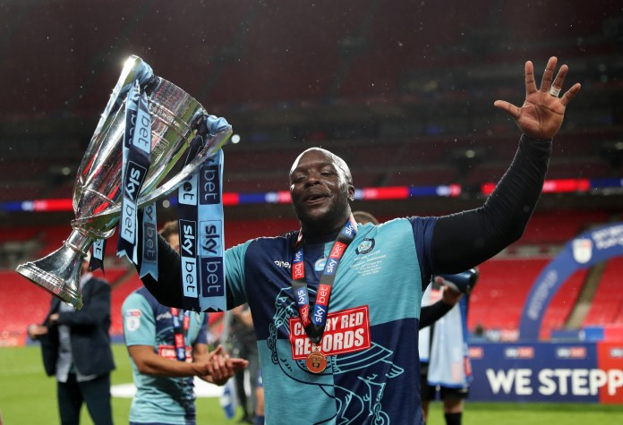 Adebayo Akinfenwa and Wycombe Wanderers were promoted from League One at Wembley