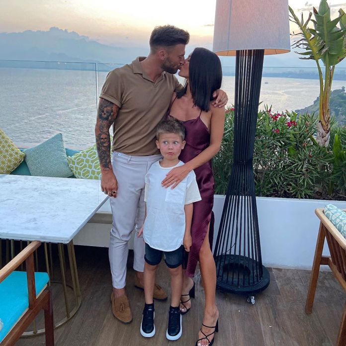 Jake and Sophie with Sophie's son Freddie, who is from a previous relationship