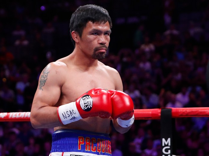 PacMan has encouraged racist cowards to pick a fight with him instead