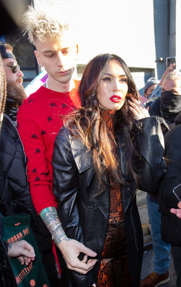 Megan Fox and Machine Gun Kelly step out of hotel for SNL appearance in January
