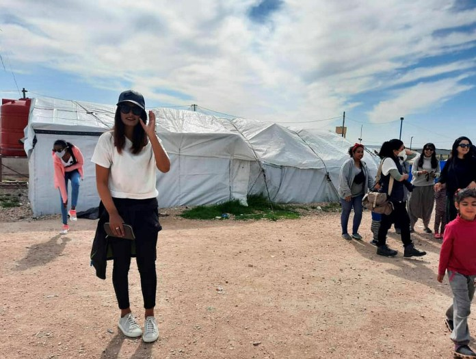 Begum has adopted a more Western lifestyle while living in a Syria refugee camp