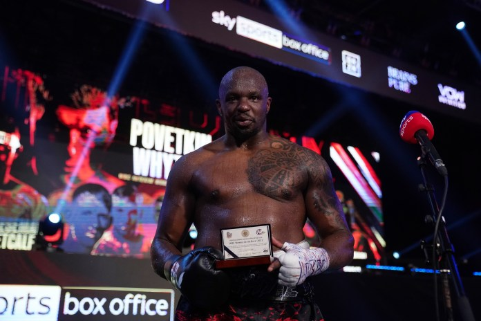 Dillian Whyte was in line to fight Francis Ngannou