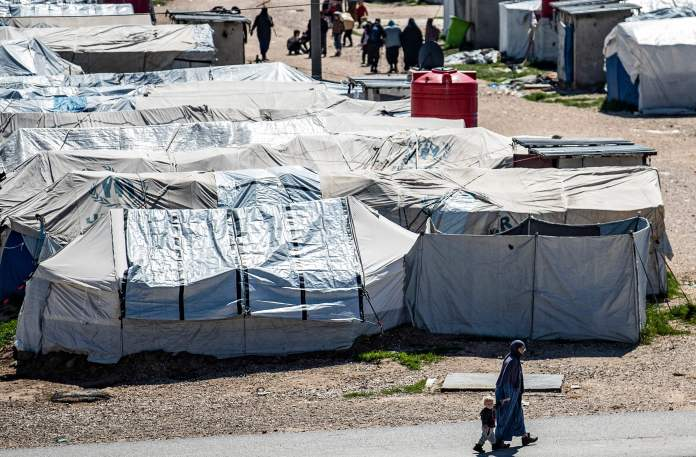 Camp Roj, where relatives of people suspected of belonging to the Islamic State (IS) group are held