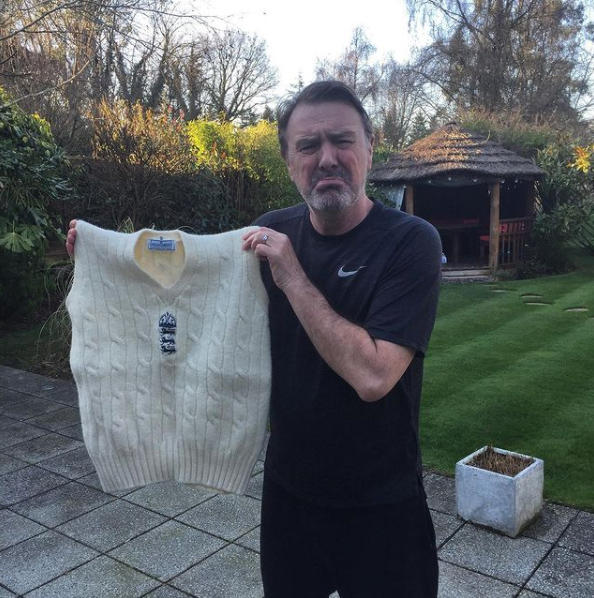 Phil Tuffnell and his shrunk England jumper