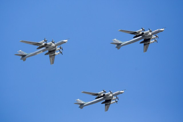 Conducting intercepts of Russian planes such as these bombers has put a strain on the USAF