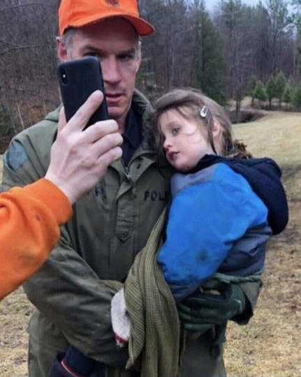 Three-year-old Jude Leyton was found three days after he wandered from his family's fishing cabin