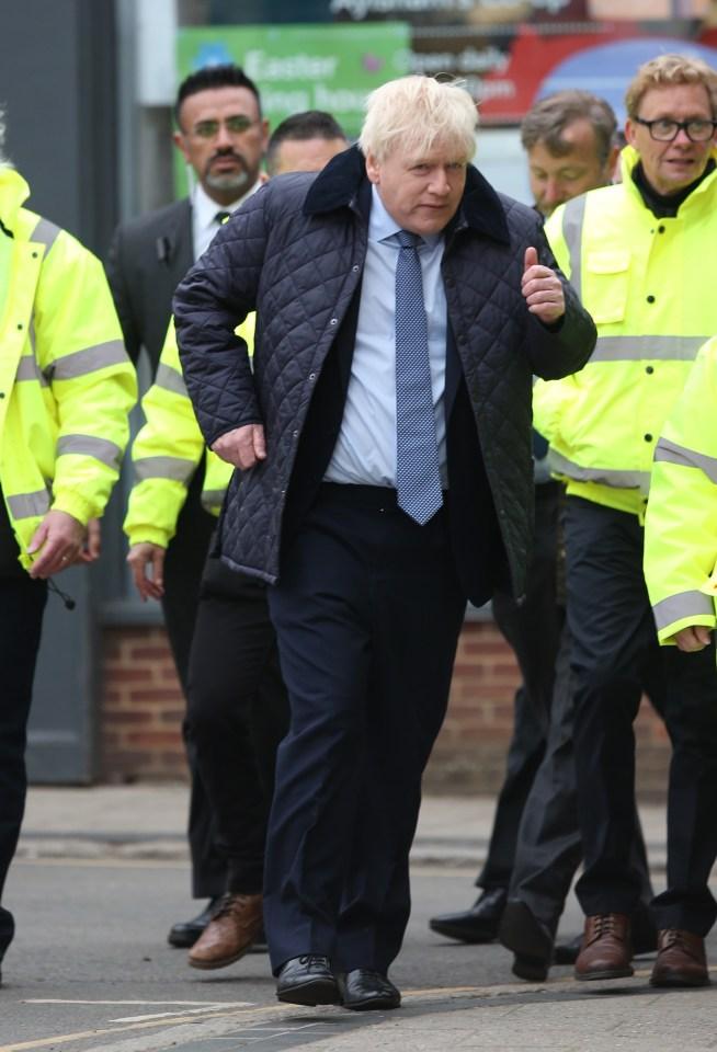 Kenneth Branagh looked uncannily like Boris Johnson as he filmed a new Sky series