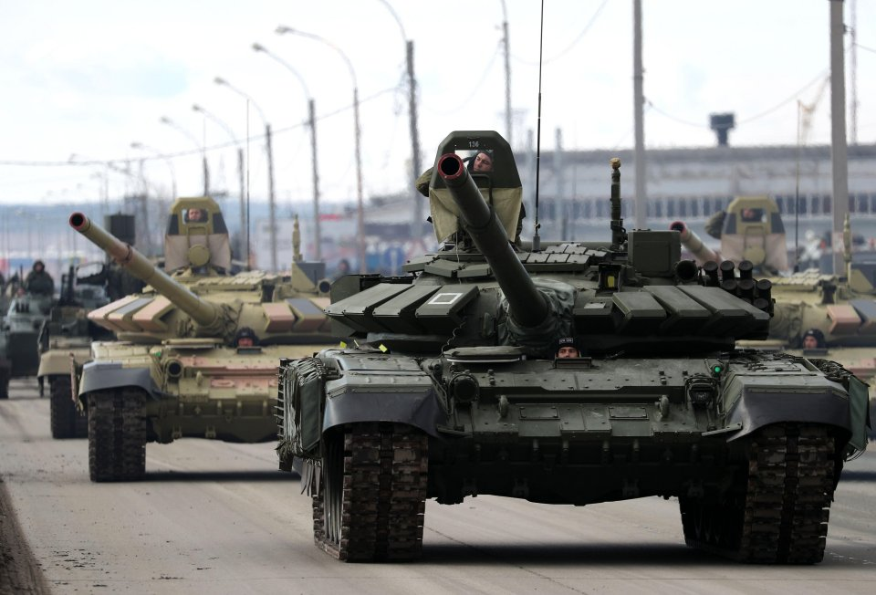 Russia has been rehearsing drills ahead of a victory parade on May 9