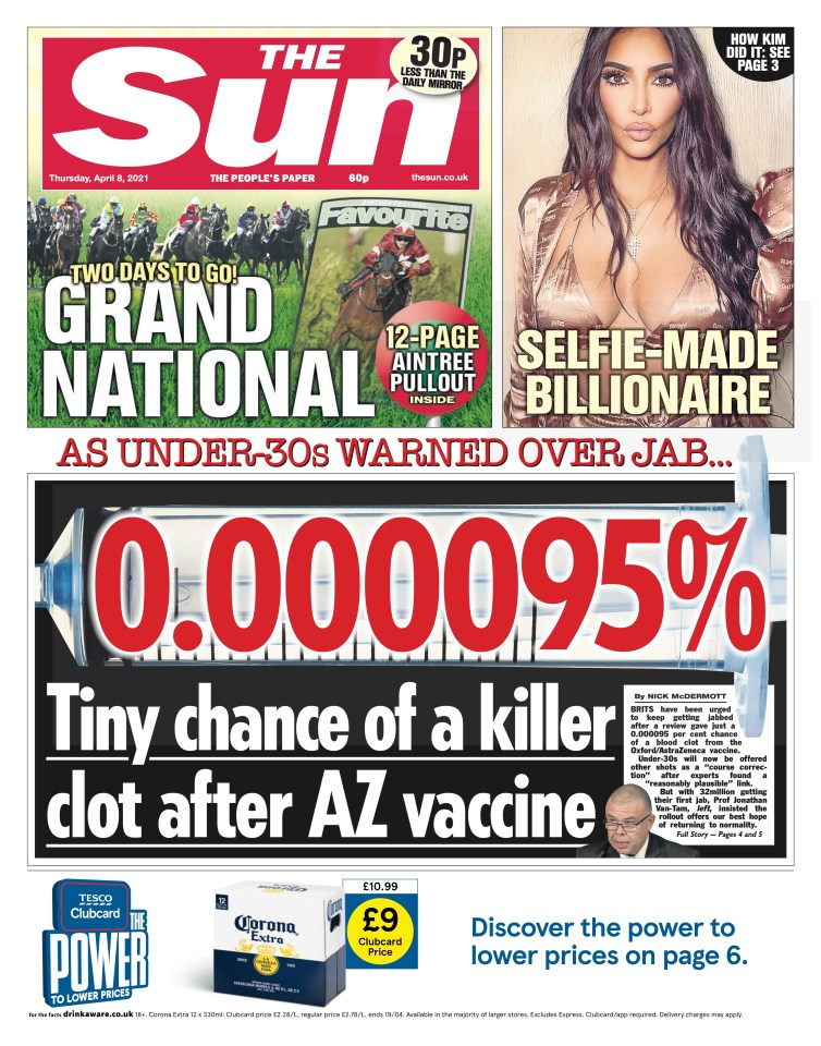 The clear-minded graphic on our front page was hailed as 'brilliant'
