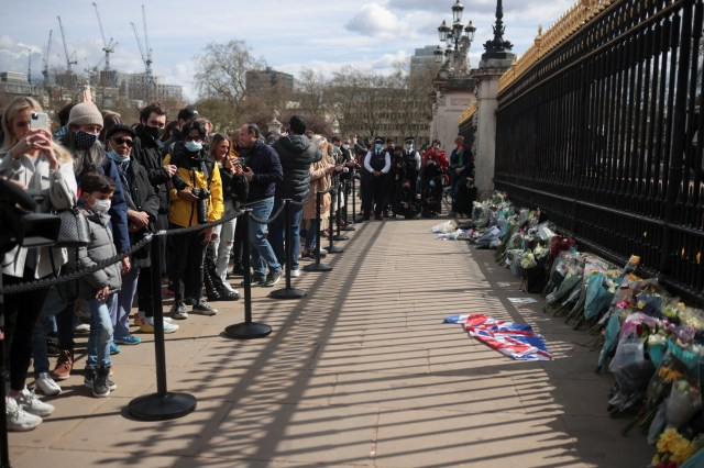 The government has urged people to stay away and not lay flowers
