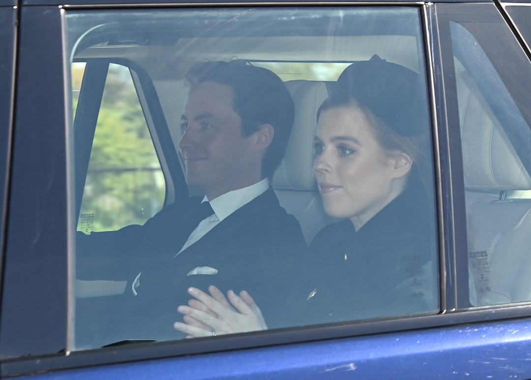 Princess Beatrice and Edoardo Mapelli Mozzi arrived at Windsor