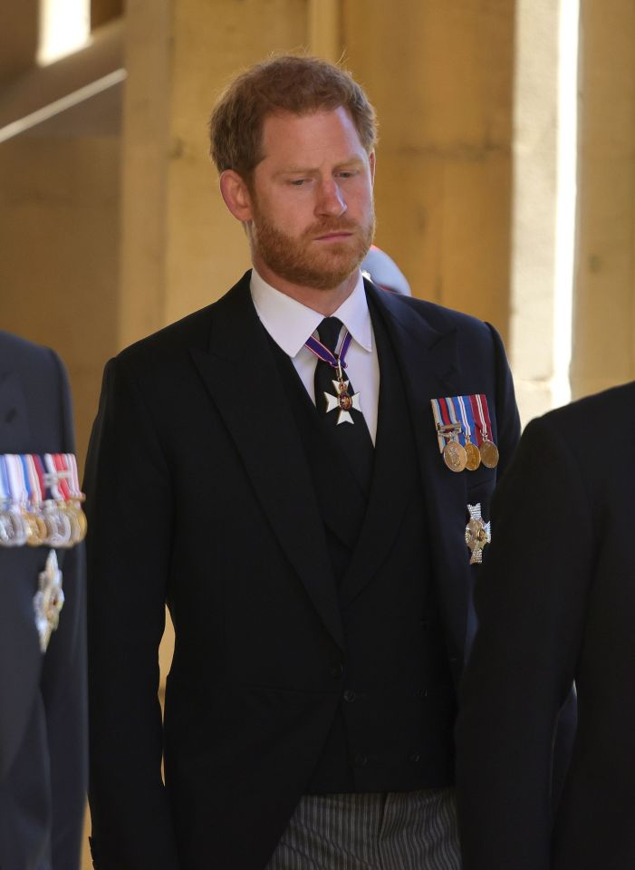 The Duke of Sussex ahead of the funeral of the Duke of Edinburgh at Windsor Castle