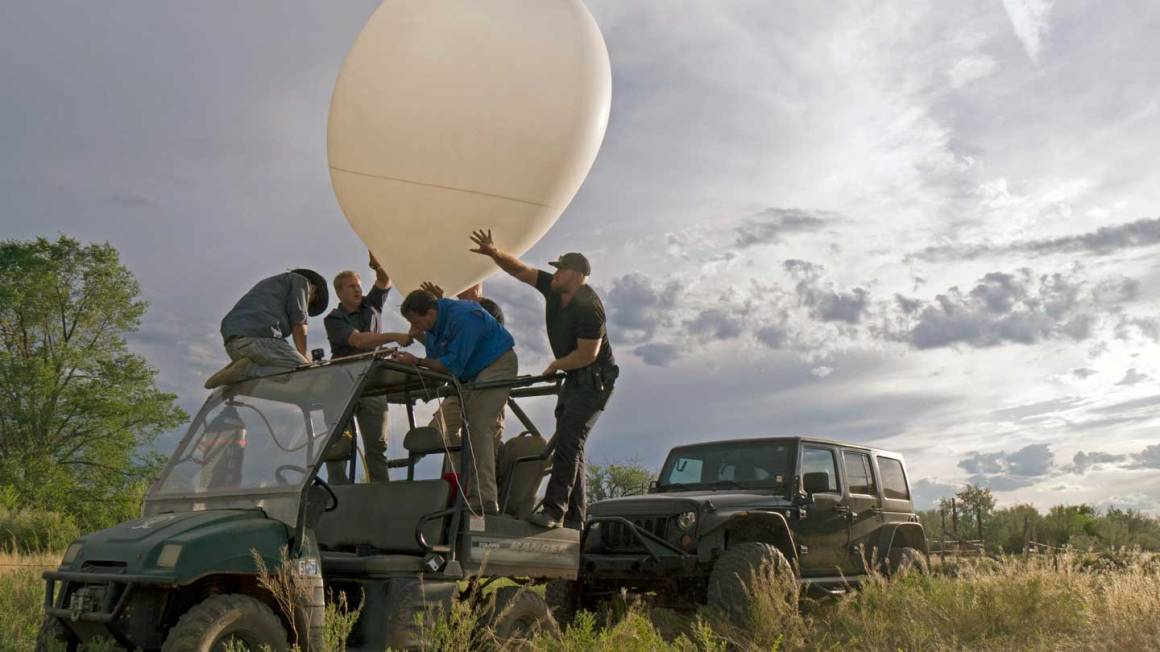 Dr Taylor and his team launch an instrument to measure electromagnetic anomalies